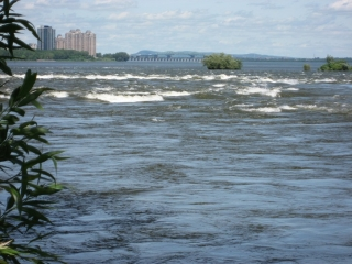Lachine Rapids in the St-Lawrence River