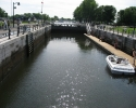 boat in Locks on the Lachine Canal.