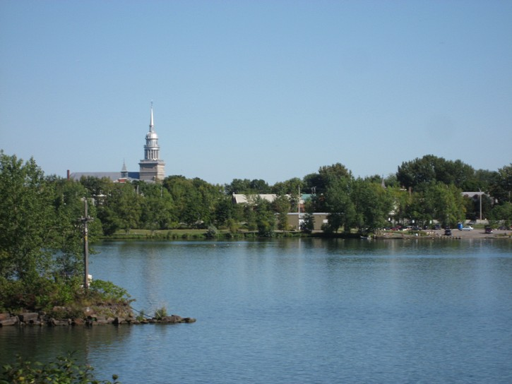 view of La Prairie on the South Shore of Montreal