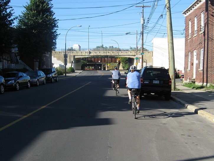 cycling on streets in Montreal