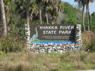 entrance to the Myakka River State Park