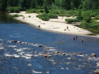 view of a river beach