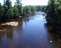 river in Laurentians