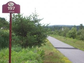 kilometres sign P'tit train du Nord