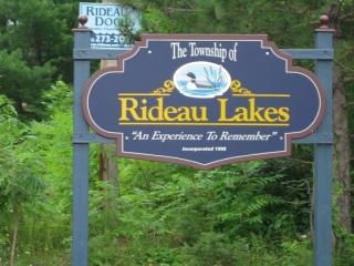 Rideau Lakes sign