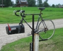 Bicycle mailbox on Regional Road 10