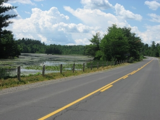 view from Regional Road 10 in Rideau Lakes area