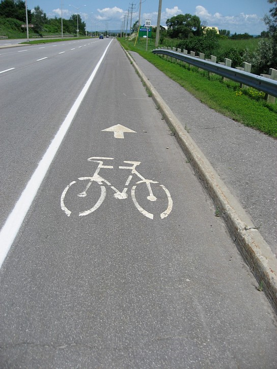 bike lane on March Road