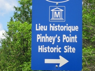 sign for Pinhey's Point historic site