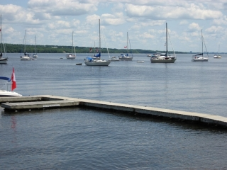 waterfront at  the Pinhey's Point Historic site.