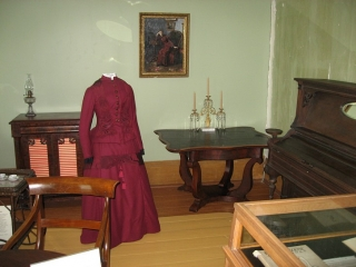 display inside the Pinhey's Point historic site.