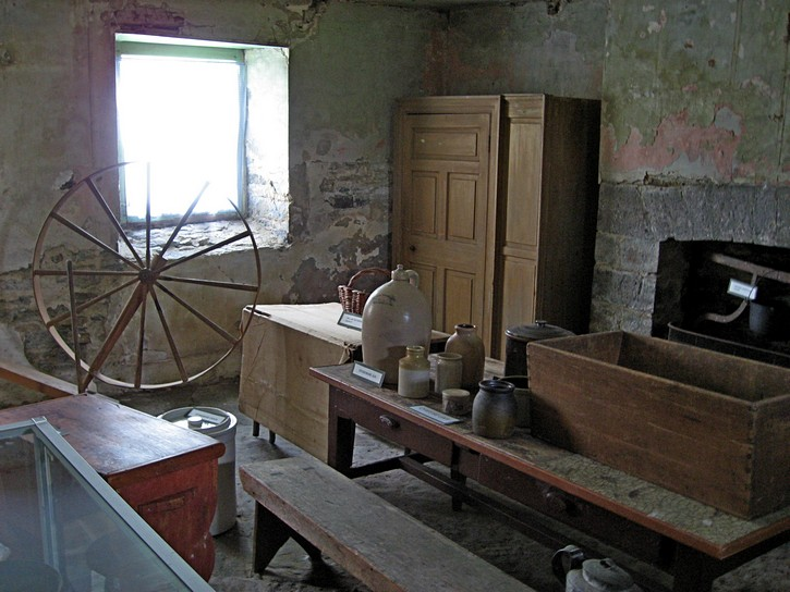Inside the old manor house at Pinhey's Point