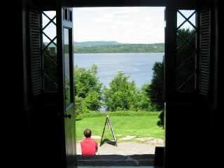 view from old manor house