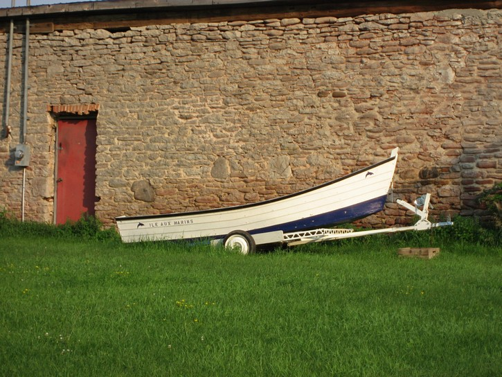 boat on trailer in Prince Edward County.