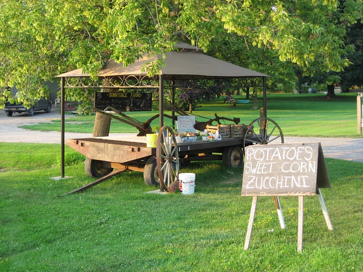 Road side stall selling local produce