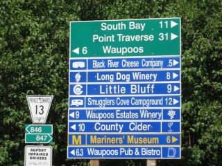 sign various attractions in Prince Edward County
