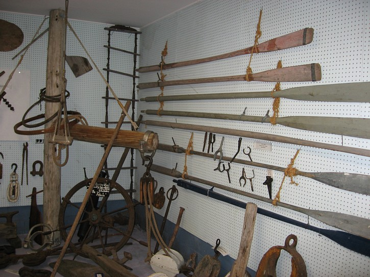 display at the Mariners' Park Museum