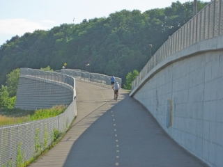 bike path below the escapement.