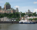 view of the Château Frontenac from the water