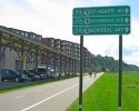 Route Verte signs for cyclists