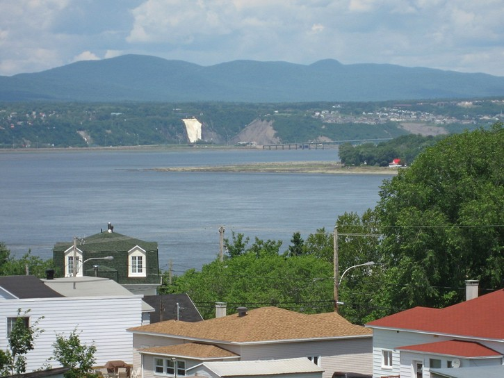 Montmorency Waterfalls (in the distance)