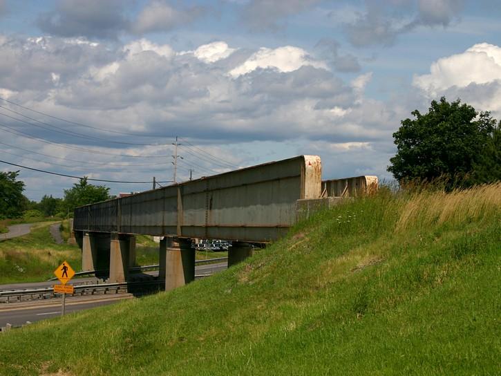 old railroad bridge over Robertson Road