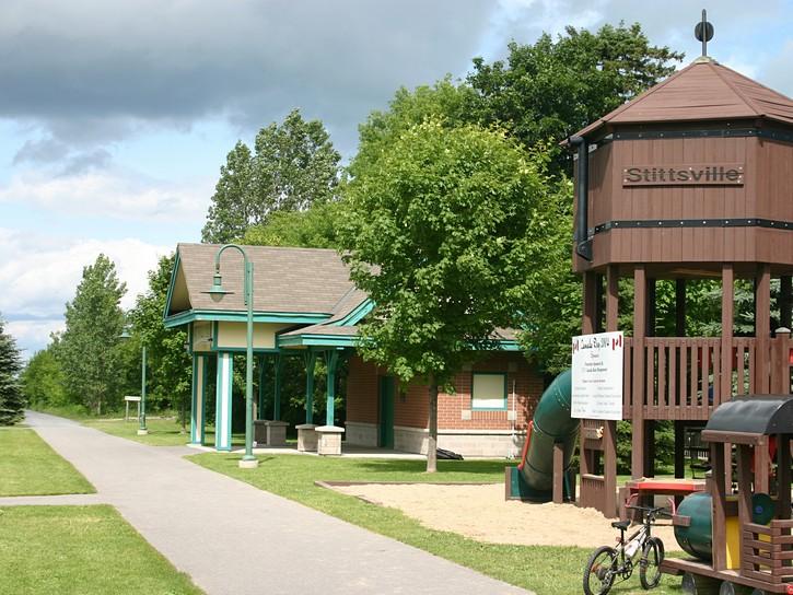 Stittsville park next to Ottawa Carleton Trailway