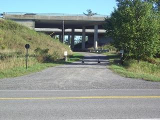 trail under Highway 417