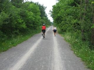 cycling on the Ottawa-Carleton Trailway