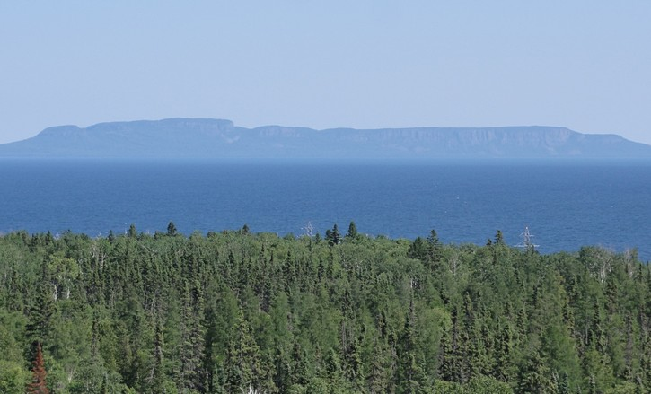 the Sleeping Giant as viewed from Thunder Bay