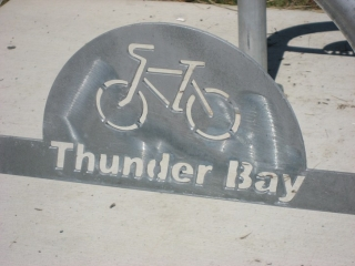 cycling sihn in Thunder Bay