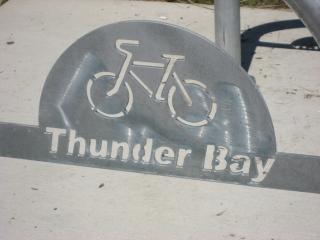 cycling sihn in Thunder Bay