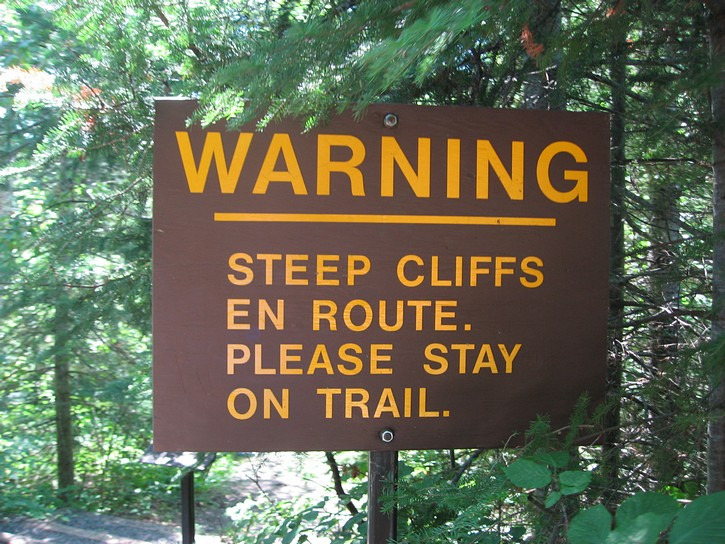 hiking trail sign