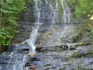 "The ""Little Falls"" as it sprinkles down a rock facade."