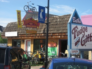 bike rental shop in Grand Marais.