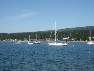 anchorage in front of Grand Marais