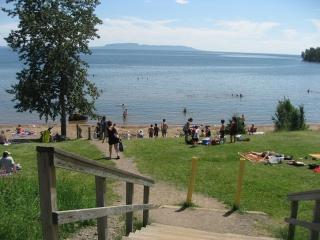 public beach off Lakeshore Drive