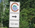 sign for the Silver Harbour Conservation Area