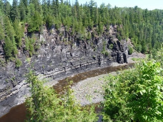 view in the Kakabeka Falls Provincial Park