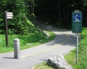 Gatineau Park path exit