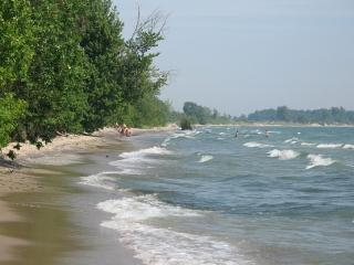 Big Sandy Bay beache on Wolfe Island