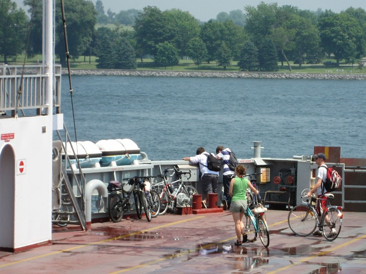 Cyclists on  ferry