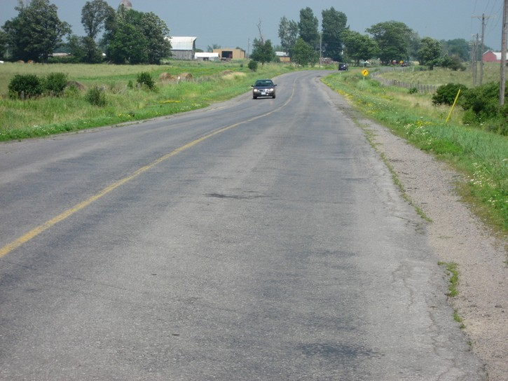 Highway 96 on Wolfe Island