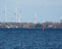 wind turbines on Wolfe Island