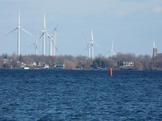 wind turbines on Wolfe Island